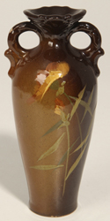 Early Hand Decorated Ohio Pottery Vase