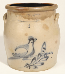 New York Stoneware Co. Jar With Bird