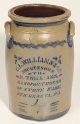 "C. L. Williams ""Successors"", New Geneva, Stoneware Jar"