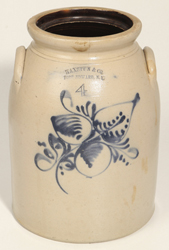 Haxstun & Co., Fort Edwared, NY Stoneware Jar