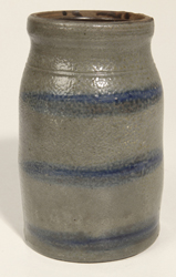 Stoneware Striped Canning Jar