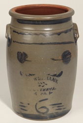 Williams, New Geneva, PA 6 Gallon Stoneware Jar