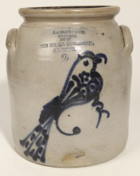 J. A. Mailloux, Canadian, Stoneware Jar With Bird