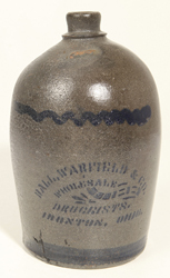 Ball, Warfiled, Ironton, OH Stoneware Jug