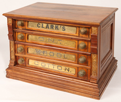 Clark's 4 Drawer Gold Glass Spool Cabinet