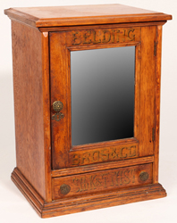 Belding Bros. Oak Silk & Spool Cabinet