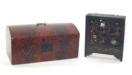 Early Flame Grained Box & Spice Box