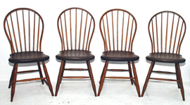 Set of 4 Bow Back Windsor Chairs