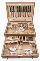 81 Piece Sterling Silver London Boxed Flatware