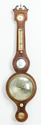 George III Inlaid Barometer by Guanellave, Somerton