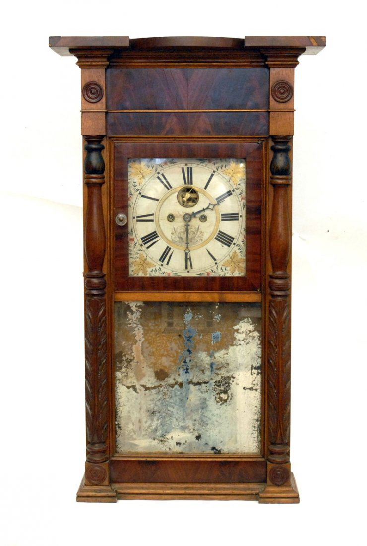 A. Munger Half Column Shelf Clock