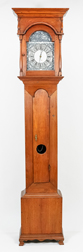 American Walnut Chippendale Tall Case Clock