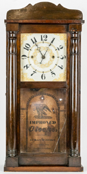 Luman Watson, Cincinnati, Ohio Half Column Shelf Clock