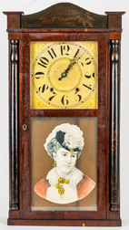 Elisha Hotchkiss, Burlington, Ct. Half Column Shelf Clock