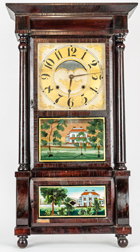 Birge, Mallory & Co. Triple Decker Shelf Clock