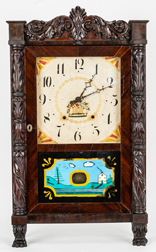 Seth Thomas Carved Half Column Shelf Clock