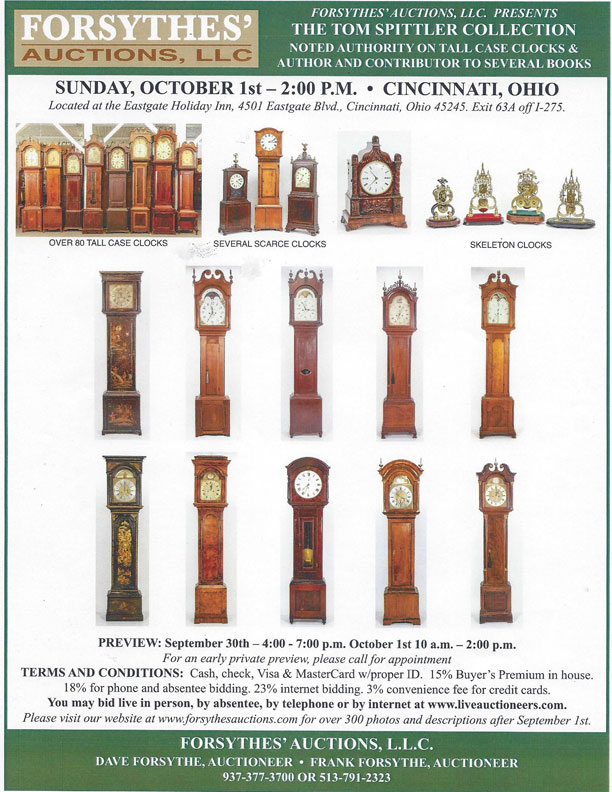 Forsythes Auctions Clocks October 1, 2017