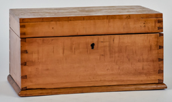 Dovetailed Curly & Birds-eye Maple Box