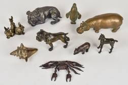 Group of Small Bronze Figures