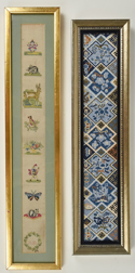 Two Framed Pieces Needlework