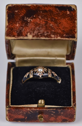 Victorian Gold Mourning Ring