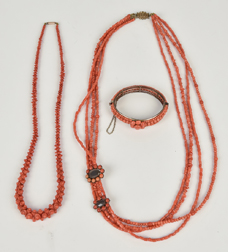 Unusual Carved Coral Necklace Plus