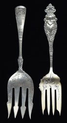 Two Coin & Sterling Meat Forks