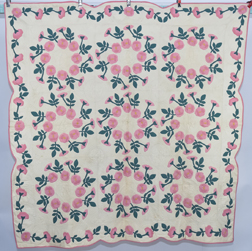 Rose of Shannon Appliqued Quilt