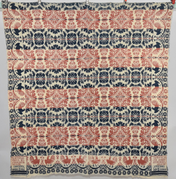 1846 Signed Ohio Jaquard Coverlet
