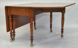 Sheraton Curly Maple Drop Leaf Table