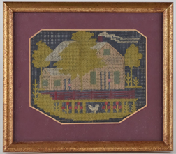 Early Needlepoint of Home