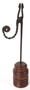 Early Wrought Iron Rush Light Holder