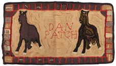 Scarce Dan Patch Race Horse Hooked Rug