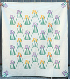 Applique Irises Quilt
