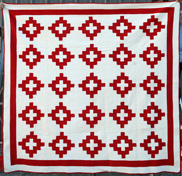 Pieced Red & White Quilt