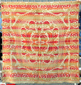 Rare Color 1841 Lancaster Co. Coverlet
