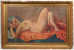 Exceptional 19th Century Impressionist Nude Oil Painting