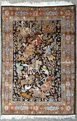 Fine Oriental Silk Estate Rug