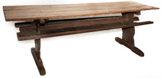 18th Century Shoe-Foot Tressel Table