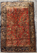 Semi-Antique Oriental Silk Estate Rug