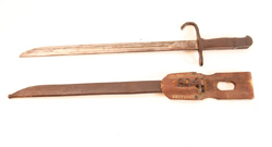 WWII Japanese Bayonet, Scabbard & Frog