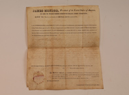James Monroe Autographed Rev. War Land Grant