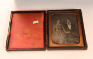 Quarter Plate Daguerreotype of Young Couple