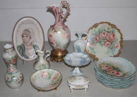 SEVERAL PCS. HANDPAINTED CHINA