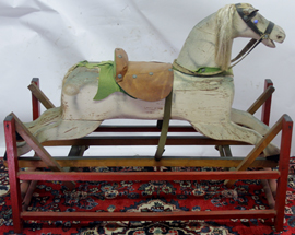EARLY WOODEN HORSE GLIDER