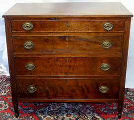 WALNUT SHERATON CHEST