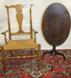 QUEEN ANNE CHAIR & TILT TOP