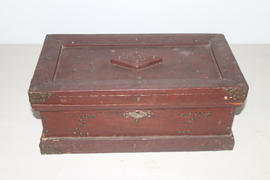 SMALL CHEST IN OLD RED