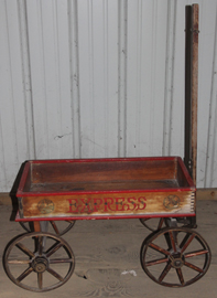 EARLY CHILD'S WOODEN WAGON