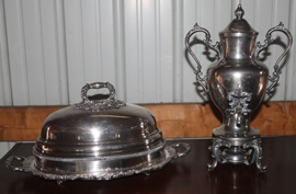 SILVERPLATE URN & COVER
